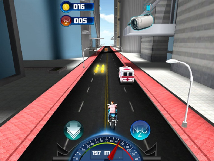 City Moto Racer Screenshot 2