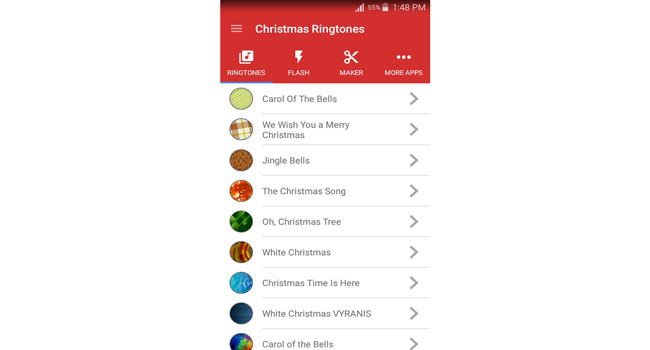 Christmas Ringtones Screenshot