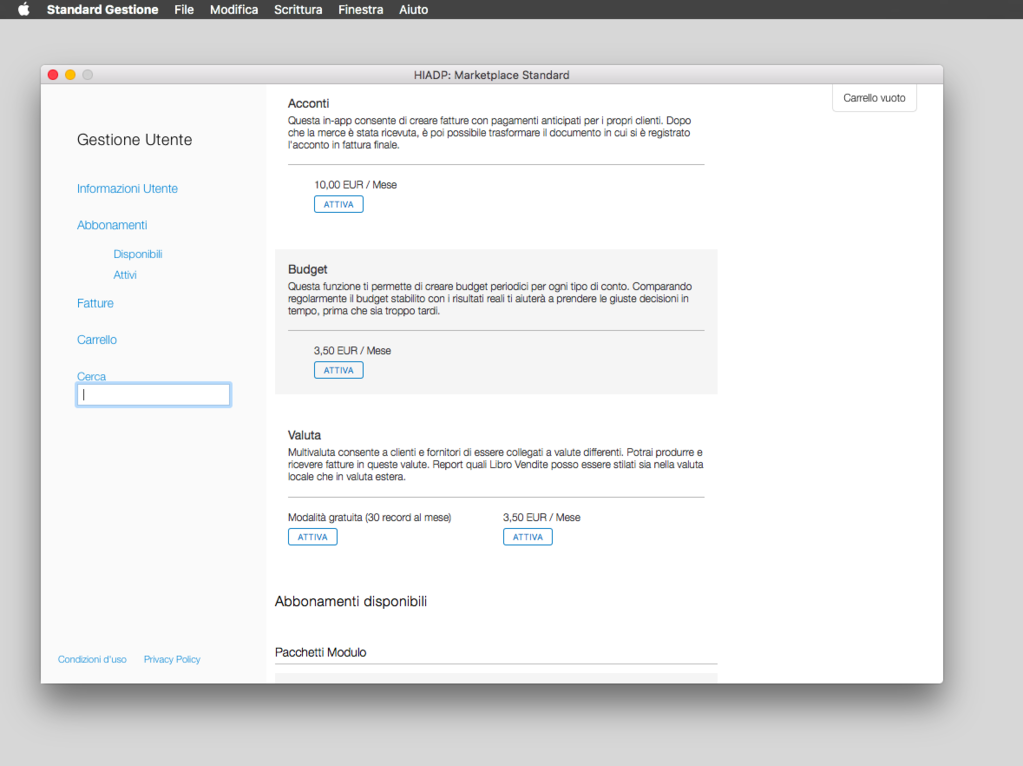 Standard Gestione Screenshot 7