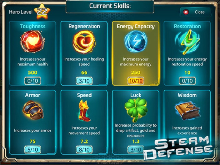 Steam Defense Screenshot