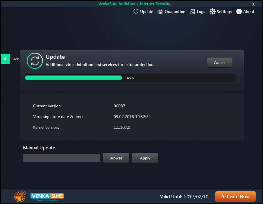 Venkasure Antivirus+Internet Security Screenshot 3