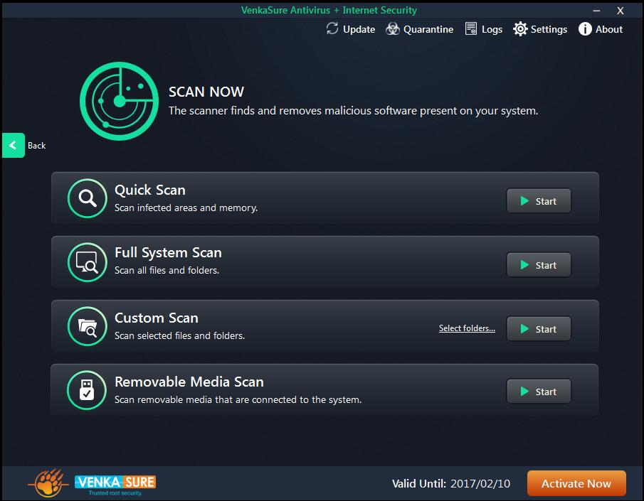 Venkasure Antivirus+Internet Security Screenshot 2