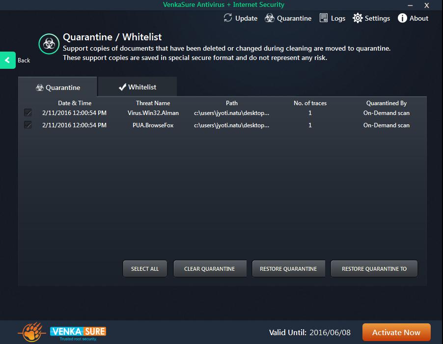 Venkasure Antivirus+Internet Security Screenshot 4