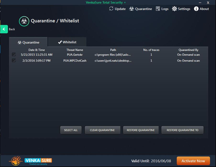 Venkasure Total Security+ Screenshot 4