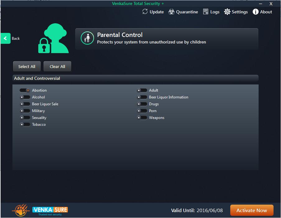 Venkasure Total Security+ Screenshot 3