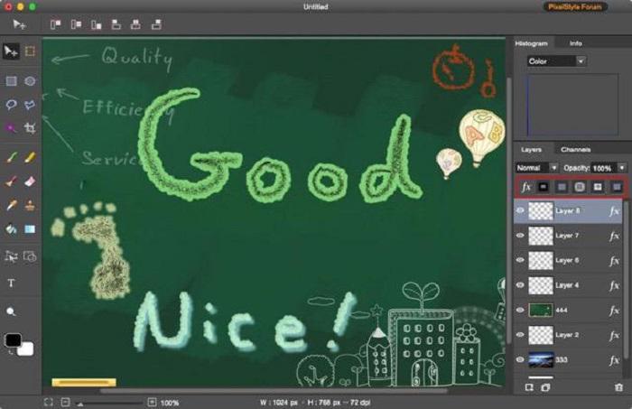PixelStyle Photo Editor for Mac Screenshot 3