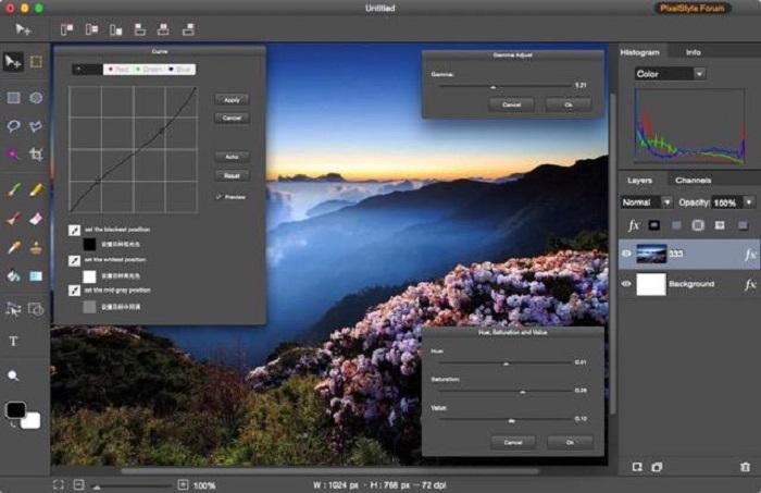 PixelStyle Photo Editor for Mac Screenshot 4