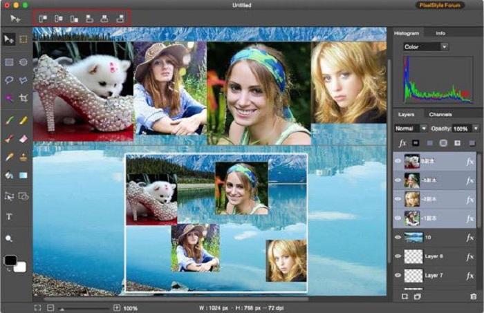 PixelStyle Photo Editor for Mac Screenshot 2