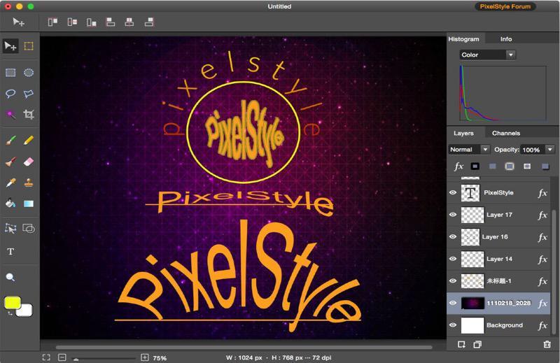 PixelStyle Photo Editor for Mac Screenshot 7