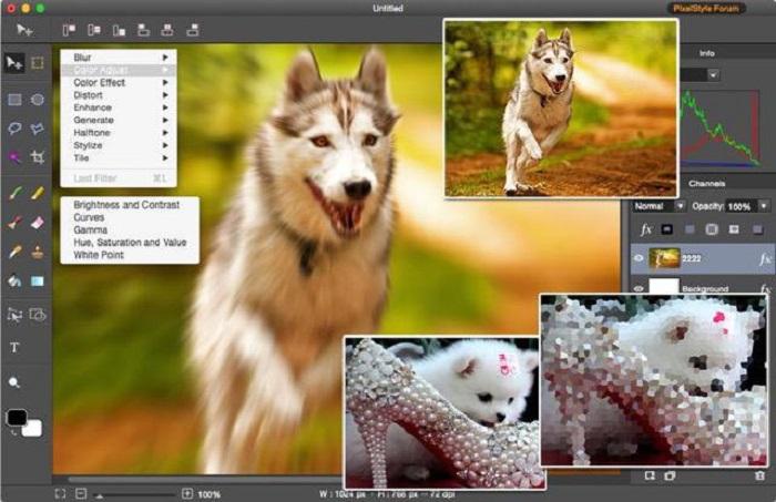 PixelStyle Photo Editor for Mac Screenshot 1