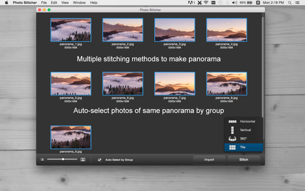 iFotosoft Photo Stitcher for Mac Screenshot 2