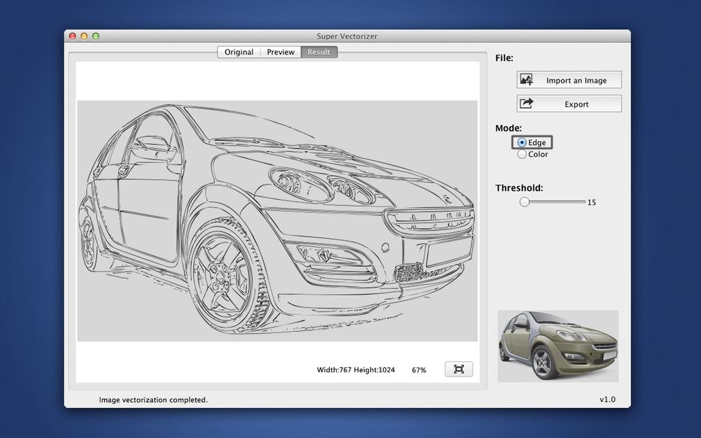 Super Vectorizer for Mac Screenshot
