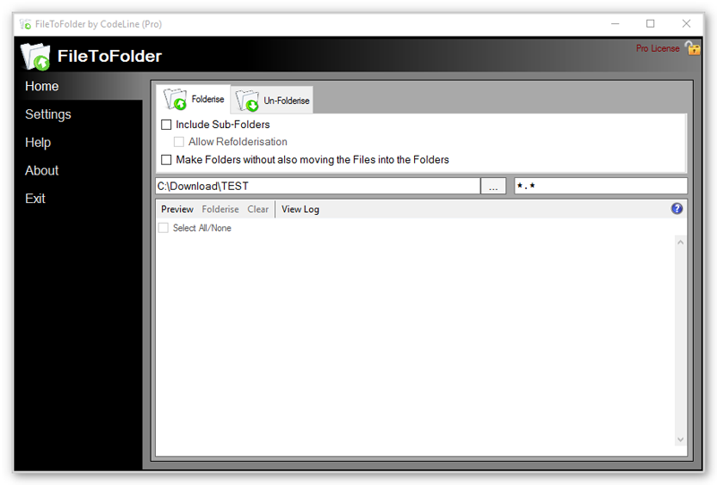FileToFolder Screenshot