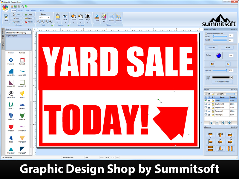 Graphic Design Shop Screenshot