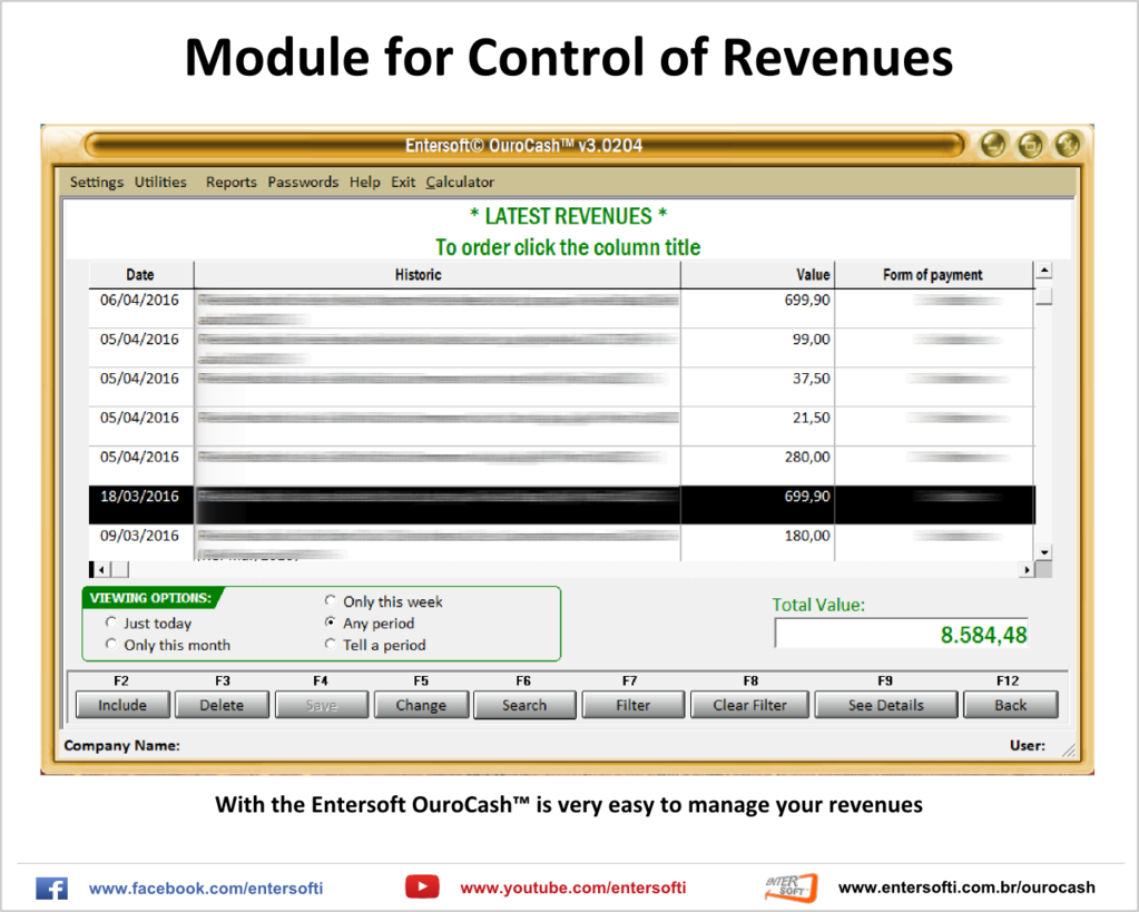Entersoft OuroCash - System for Financial Control Screenshot 7