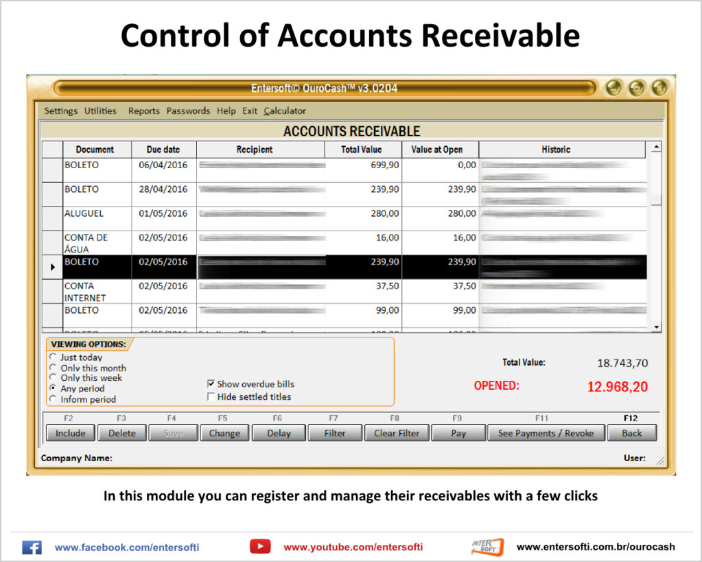 Entersoft OuroCash - System for Financial Control Screenshot 9