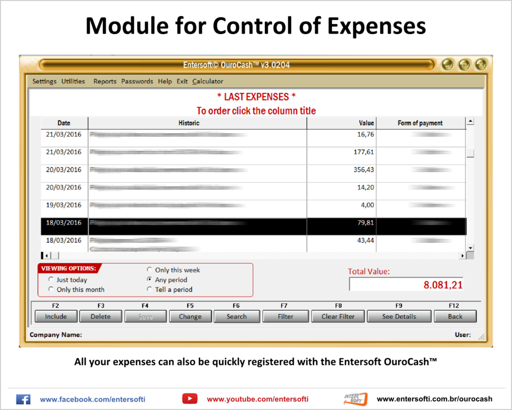 Entersoft OuroCash - System for Financial Control Screenshot 8