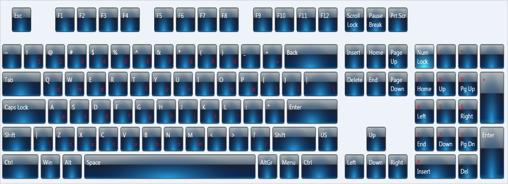Virtual Keyboard for WinForms Screenshot