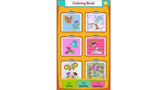 Butterfly Coloring Pages Screenshot