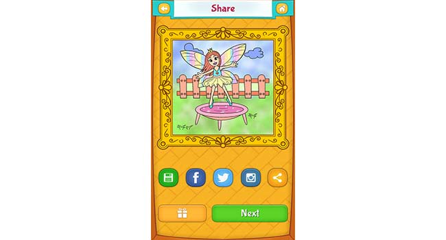 Fairy Coloring Pages Screenshot 5