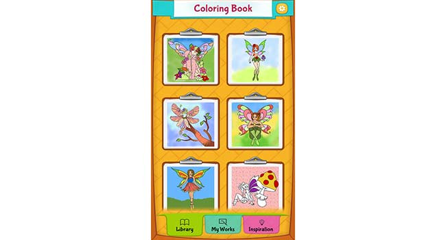 Fairy Coloring Pages Screenshot 1