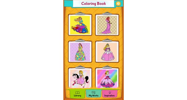Princess Coloring Pages Screenshot