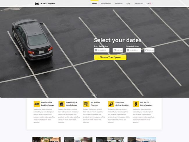 Car Parking Website - Vevs.com Screenshot 2