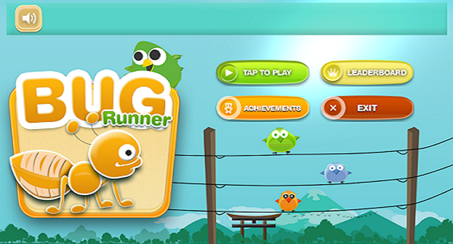 Bug Runner 2D - Running Game Screenshot
