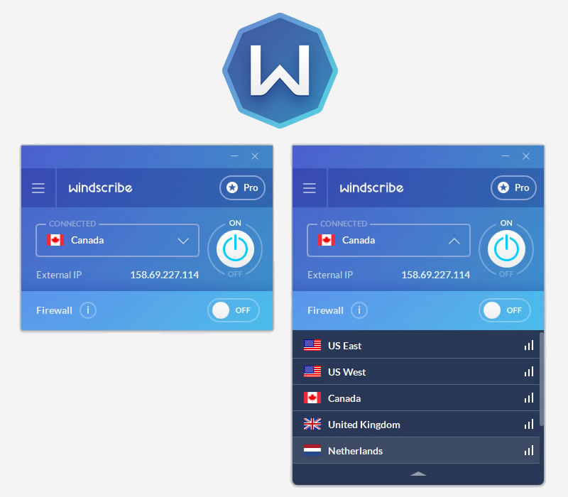 Windscribe VPN Screenshot