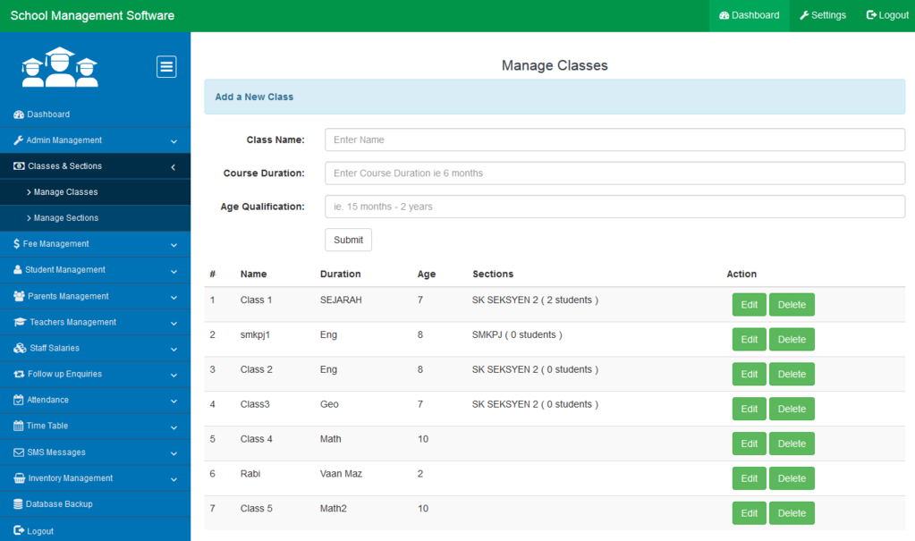 School Management System Software Screenshot 3