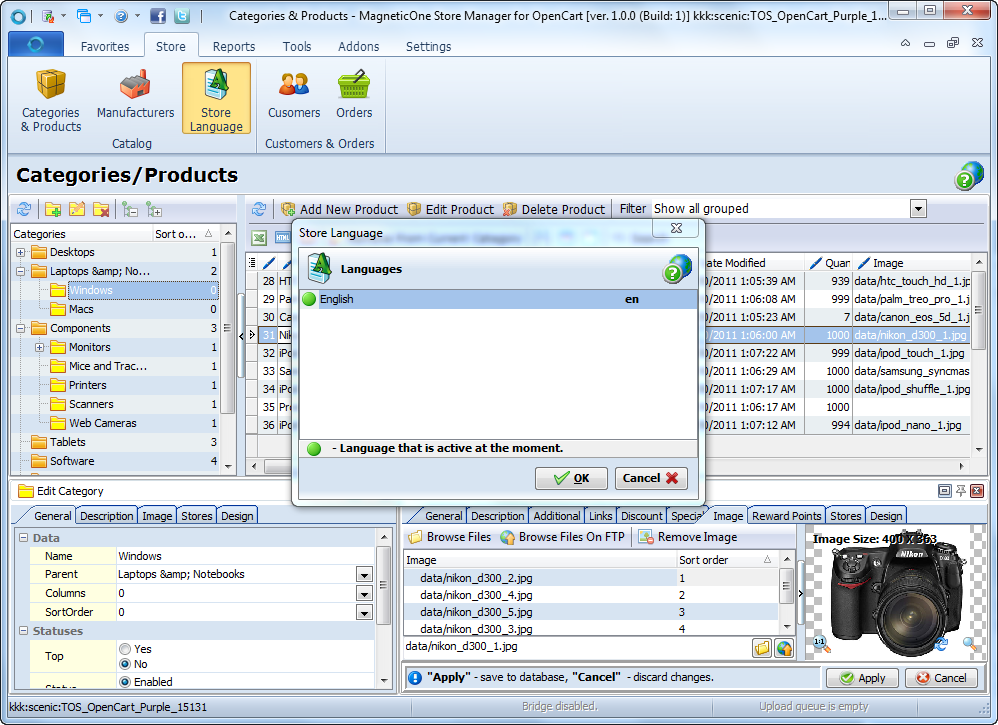 Store Manager for OpenCart Screenshot 4