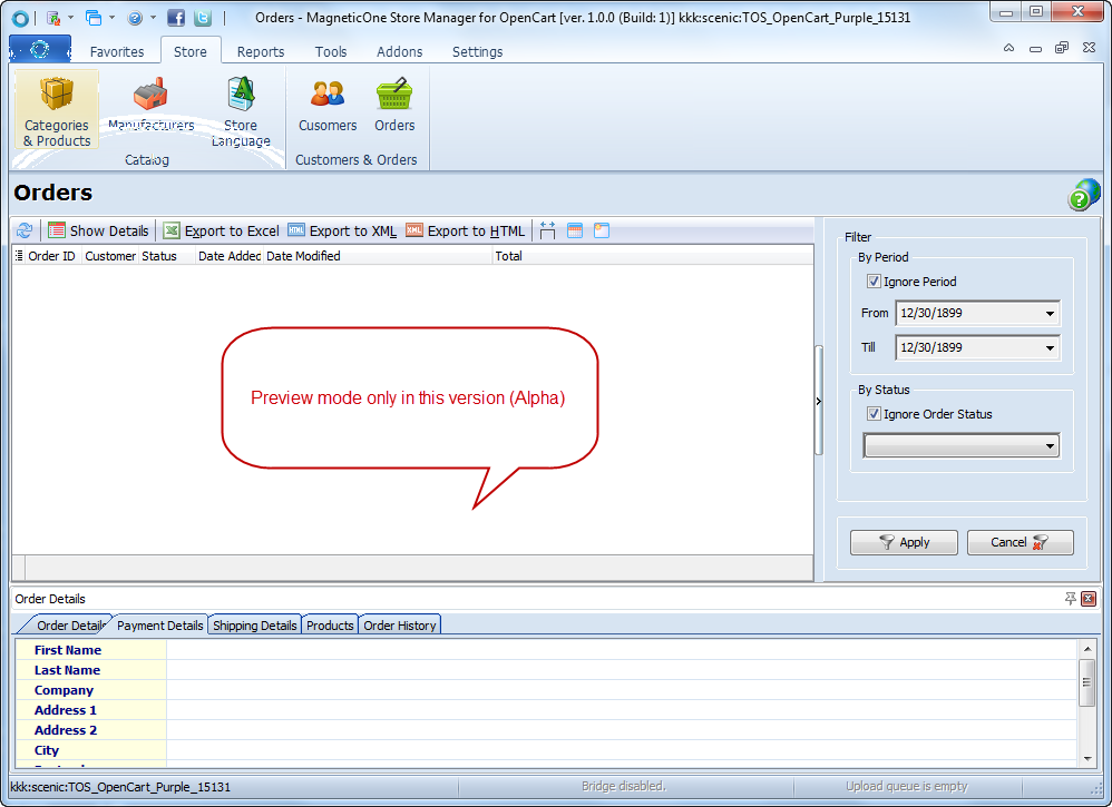 Store Manager for OpenCart Screenshot 6