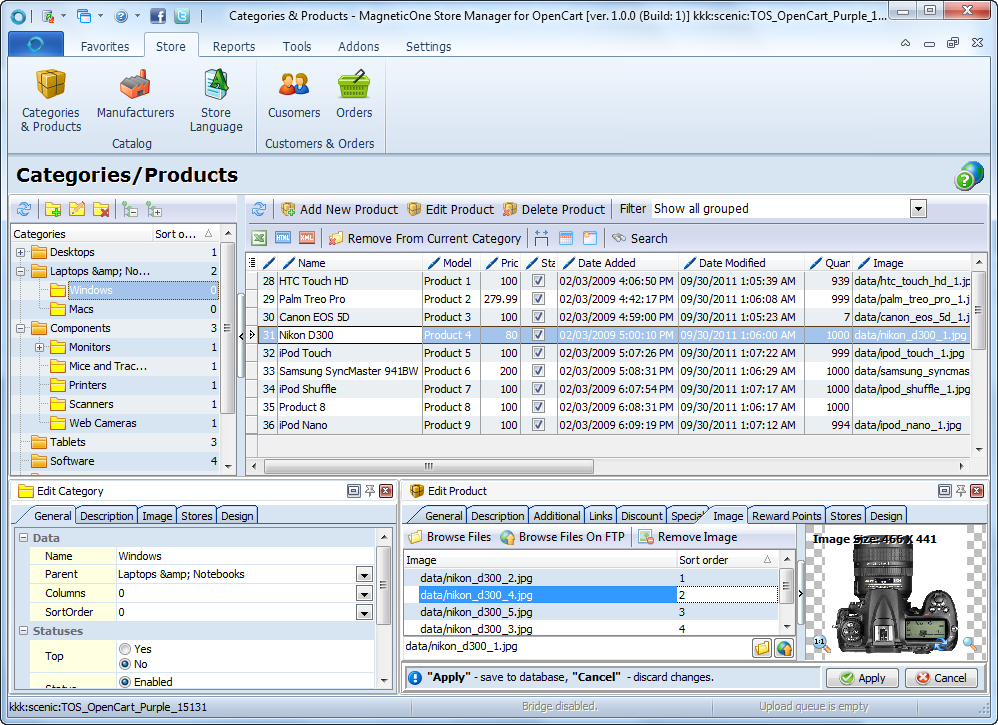 Store Manager for OpenCart Screenshot 2
