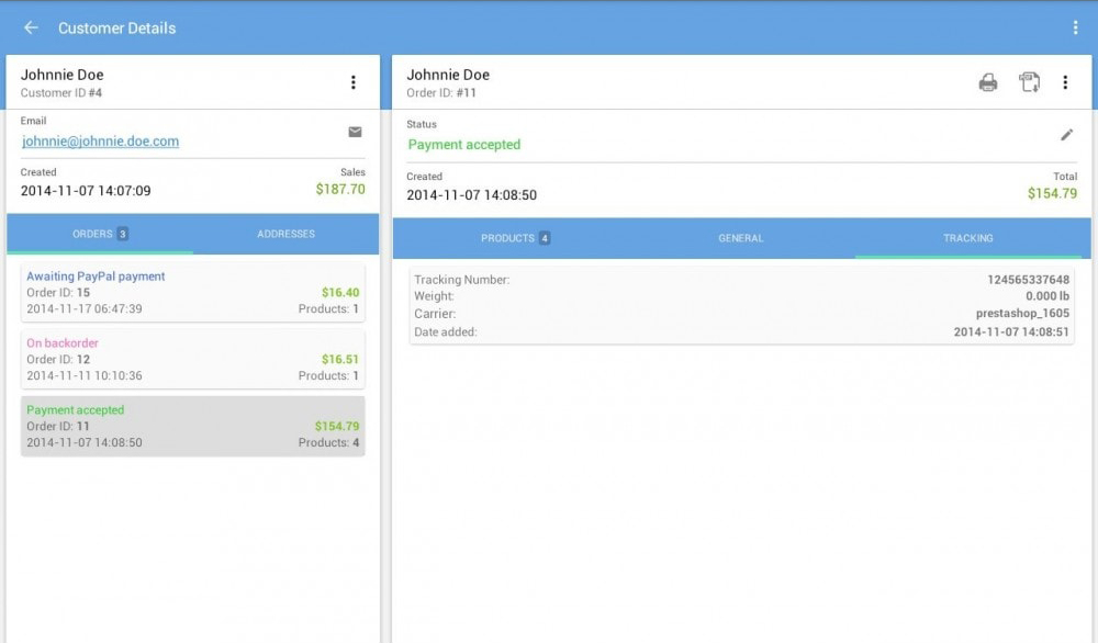 PrestaShop Mobile Assistant Screenshot 1