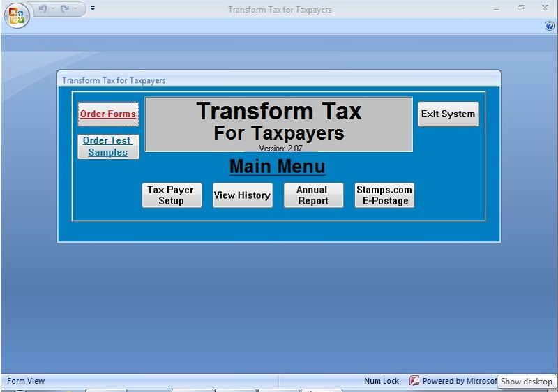 TransForm Tax Preparer Screenshot