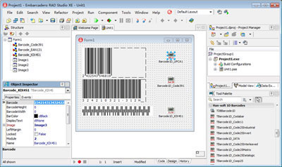 1D Barcode VCL Components 1