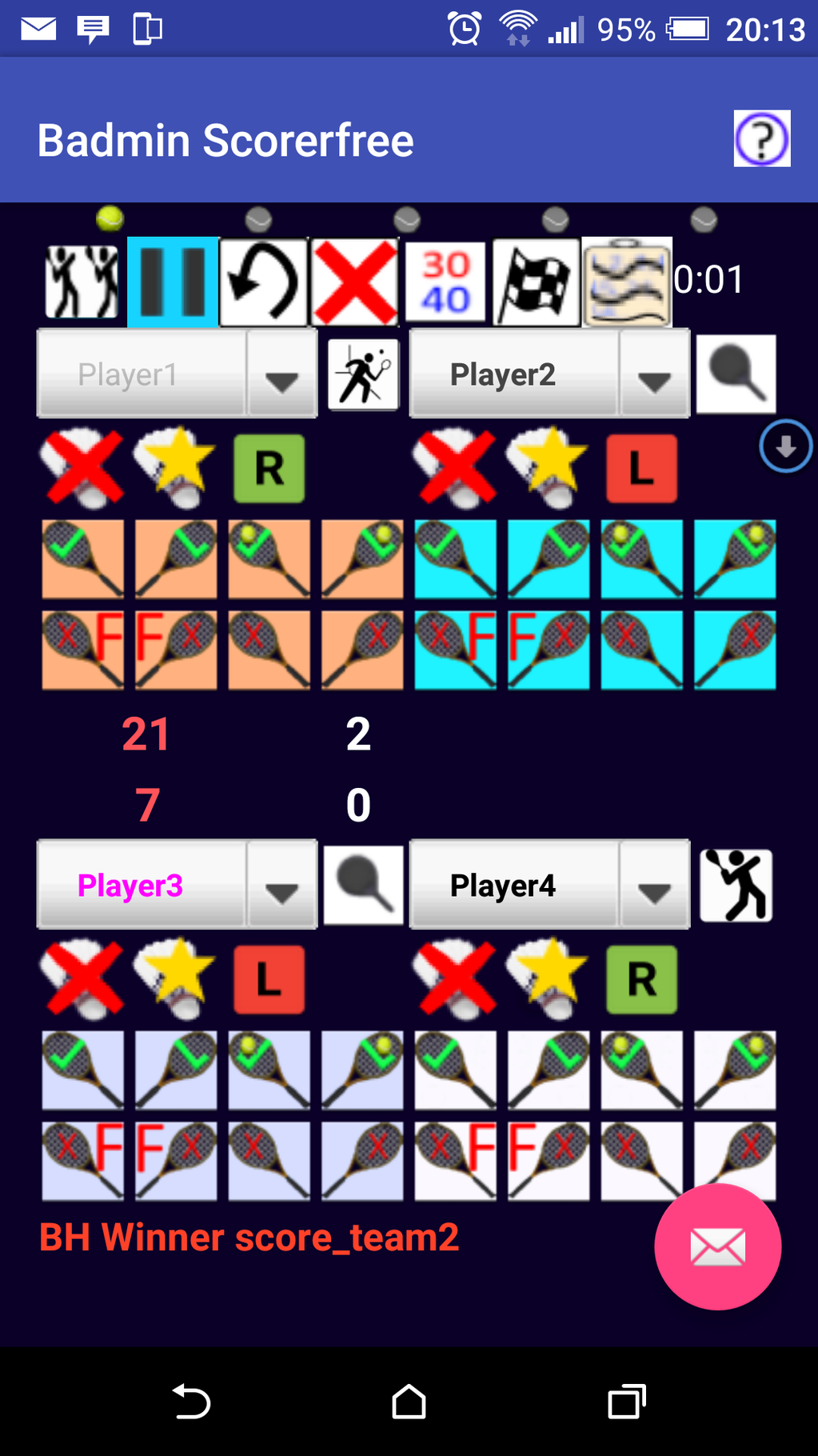 Badmin Scorer Screenshot 3