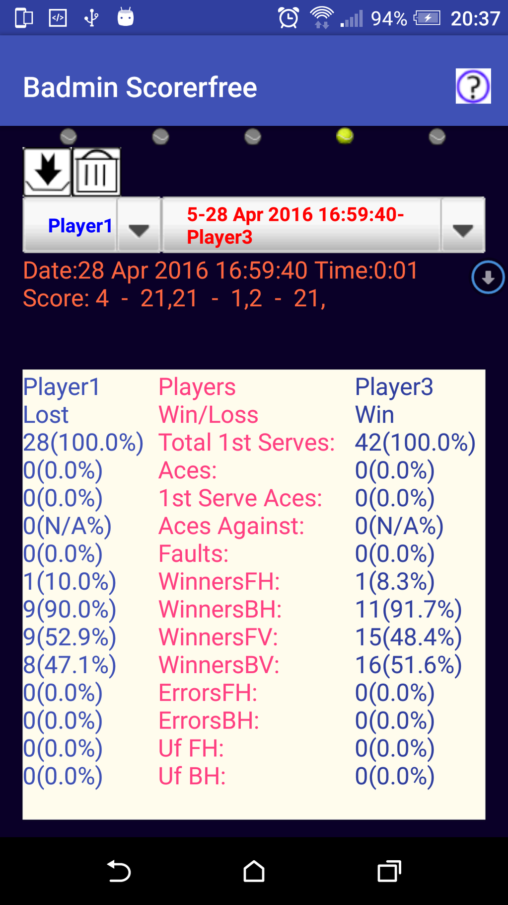 Badmin Scorer Screenshot 7