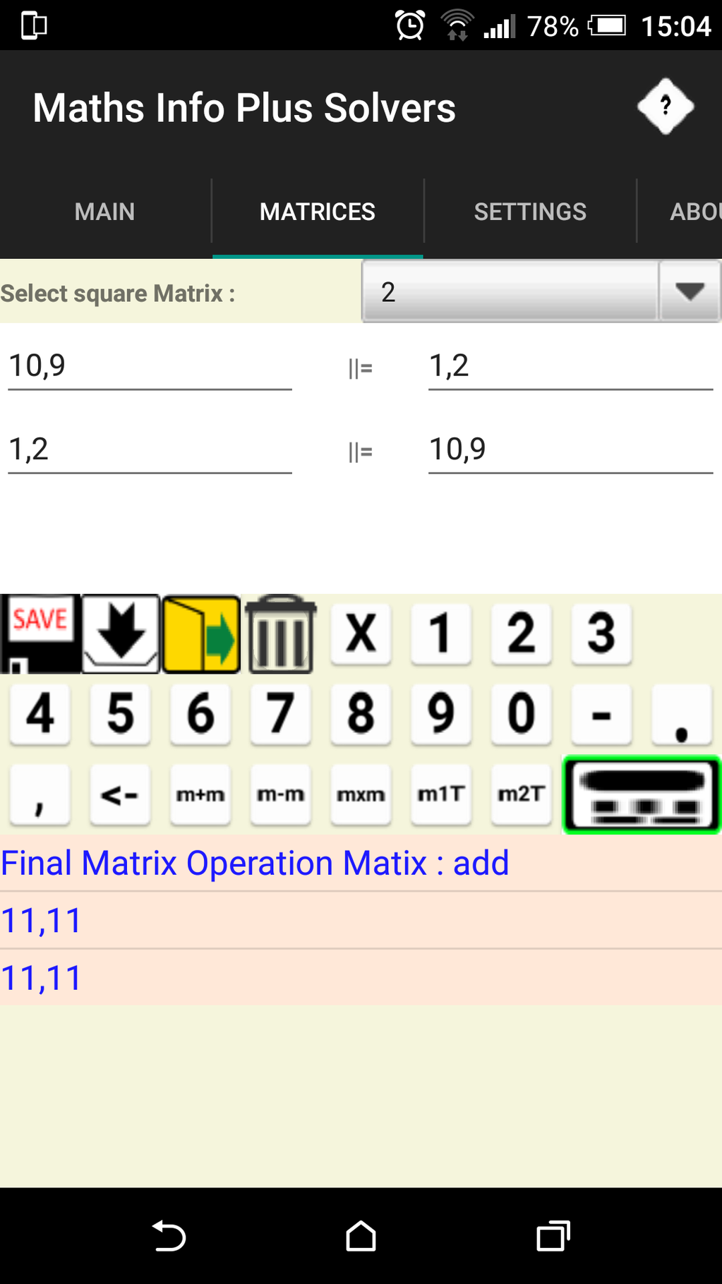 Maths Info And Solvers free Screenshot