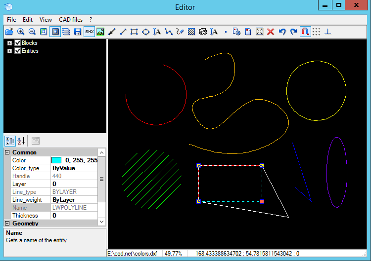 CAD .NET: DWG DXF CGM PLT library for C# Screenshot