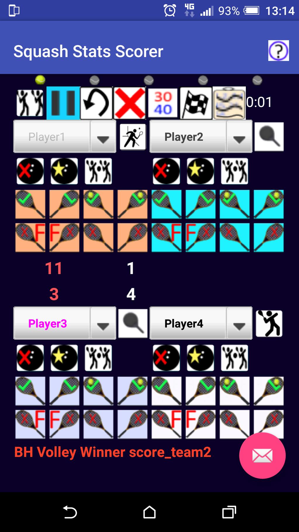 Squash Stats Scorer Screenshot 9