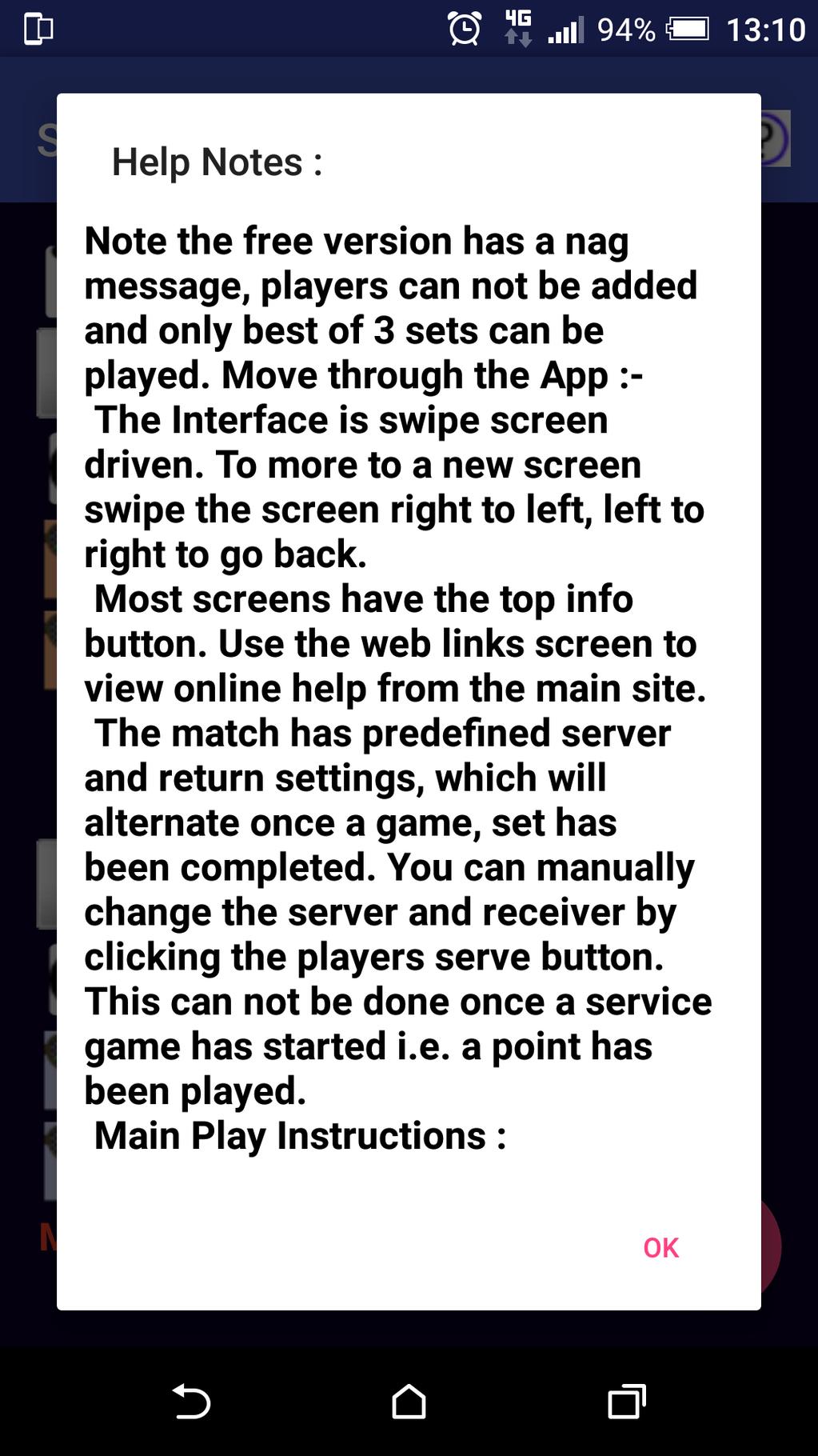 Squash Stats Scorer Screenshot 5