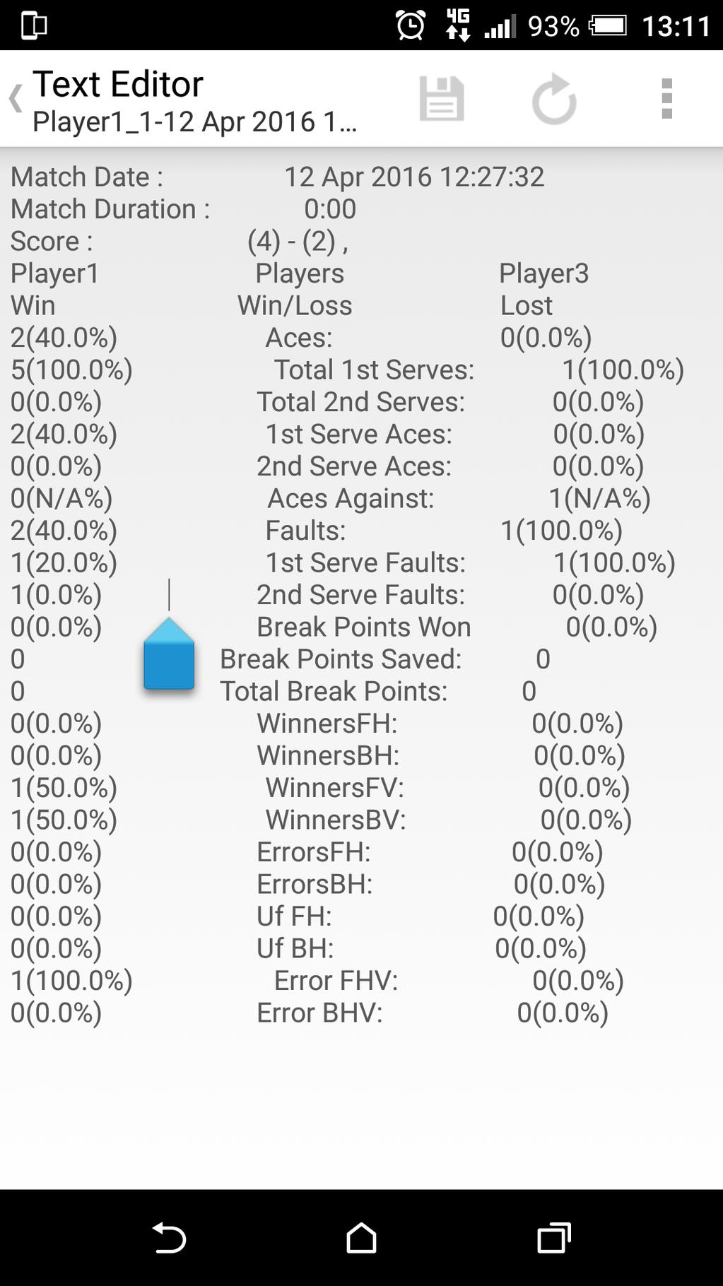 Squash Stats Scorer Screenshot 7