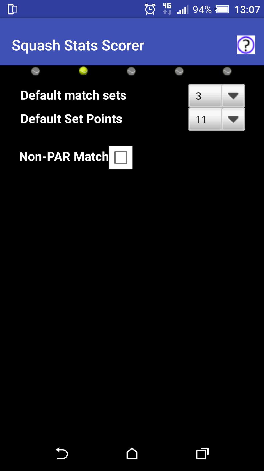 Squash Stats Scorer Screenshot 2