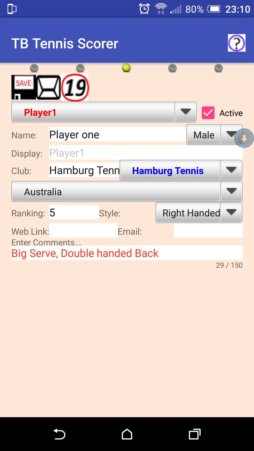 TB Tennis Scorer Screenshot 2
