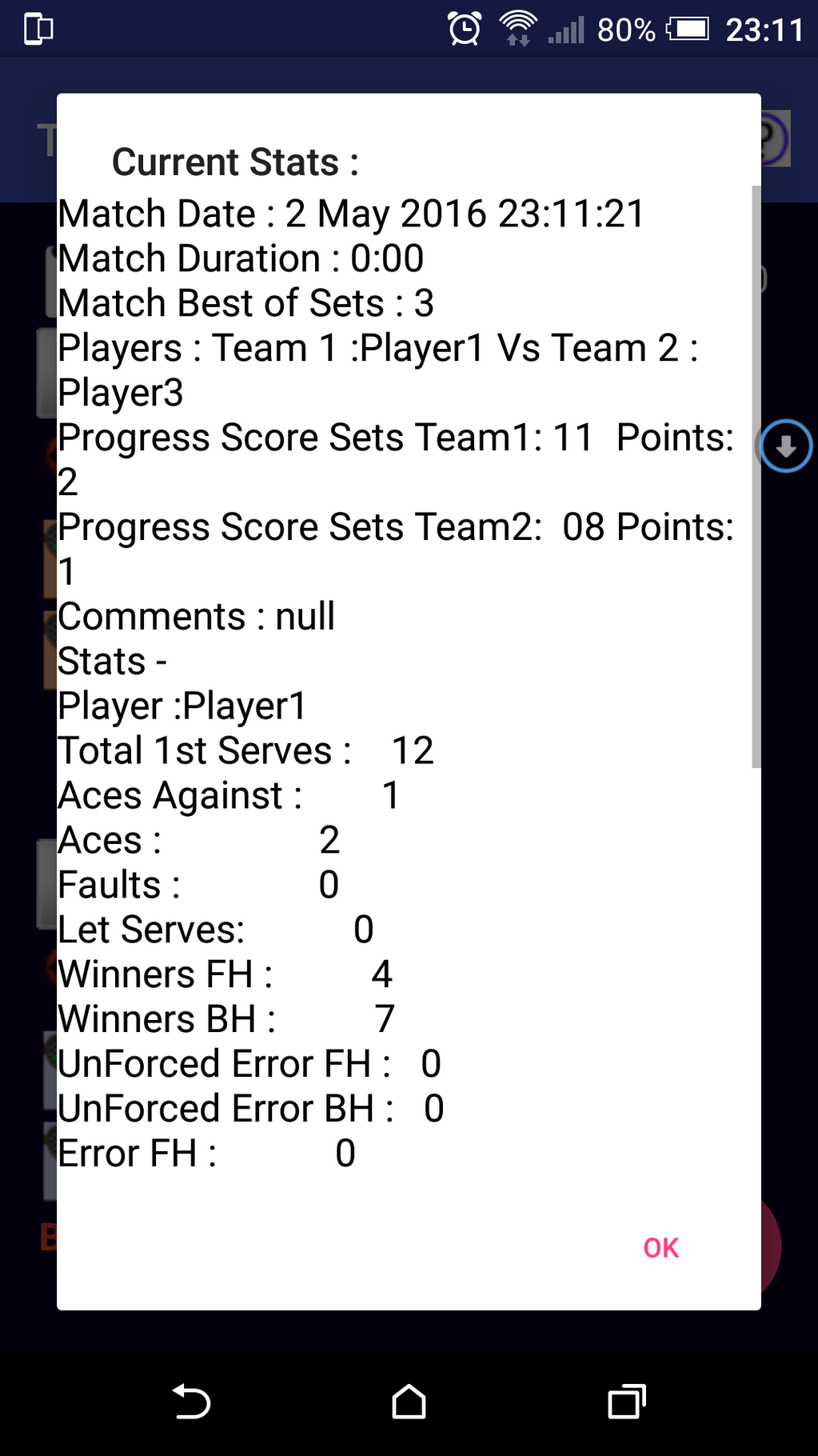 TB Tennis Scorer Screenshot 5