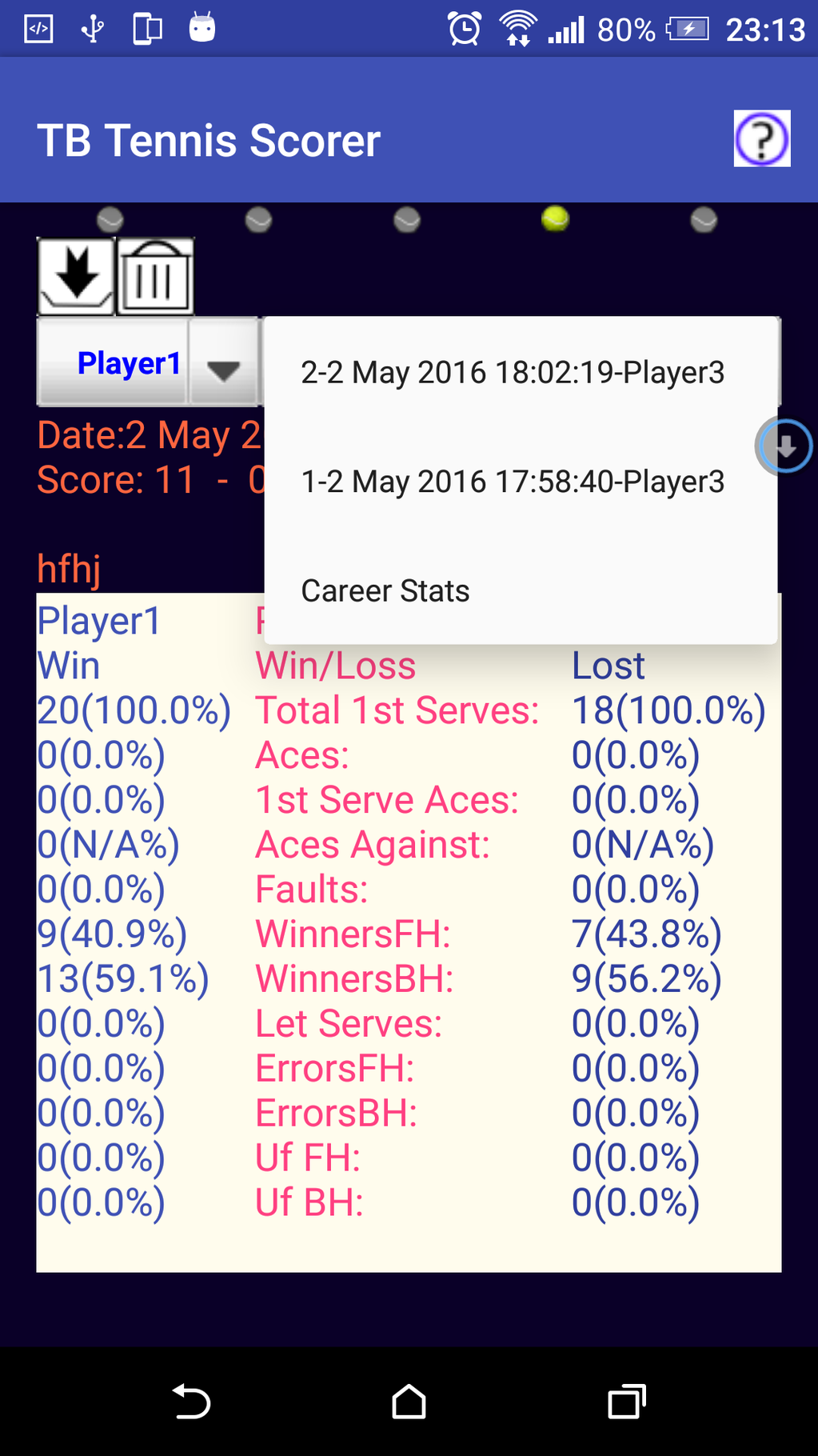 TB Tennis Scorer Screenshot 8