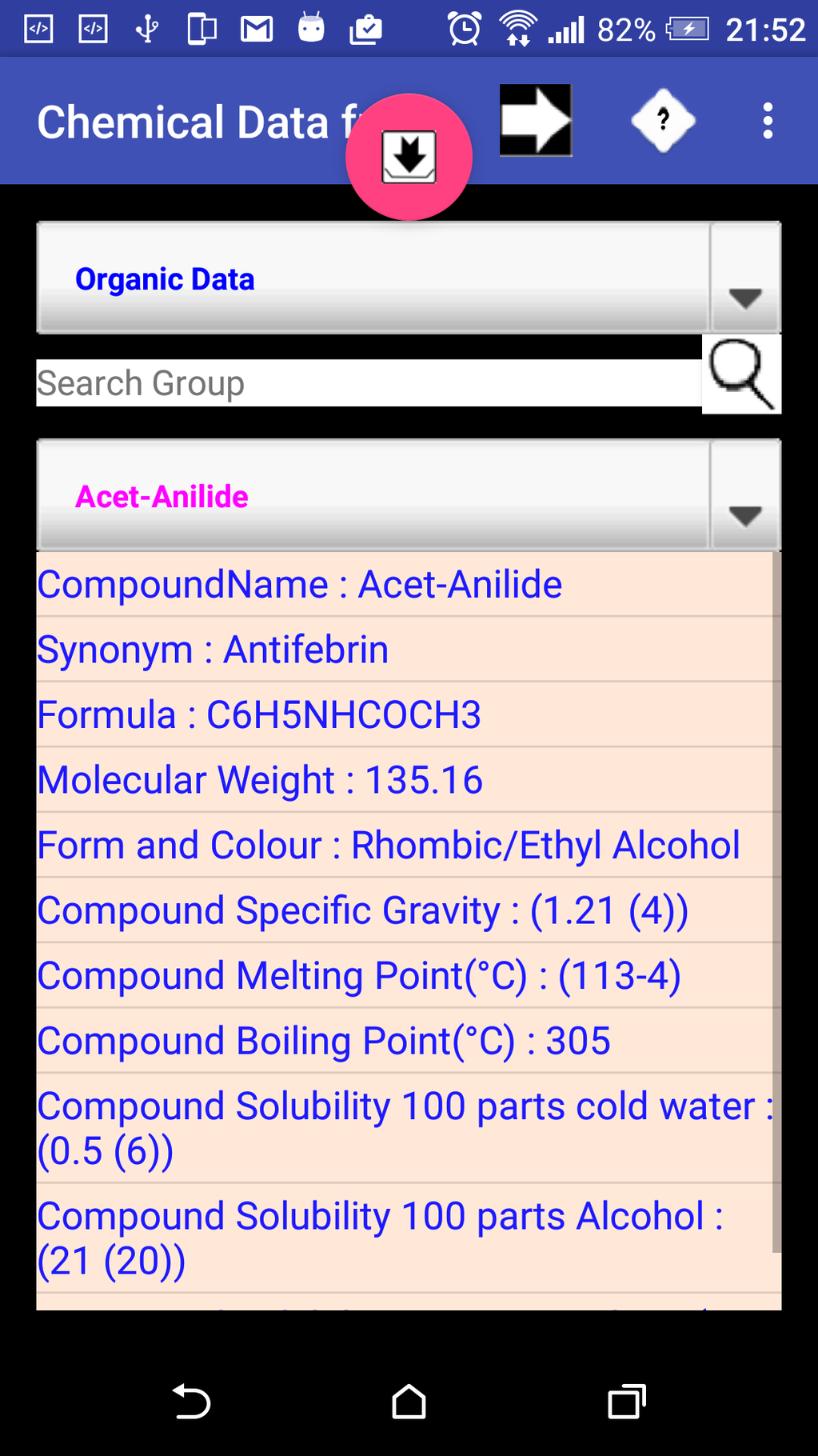 Chemical Data Screenshot 6