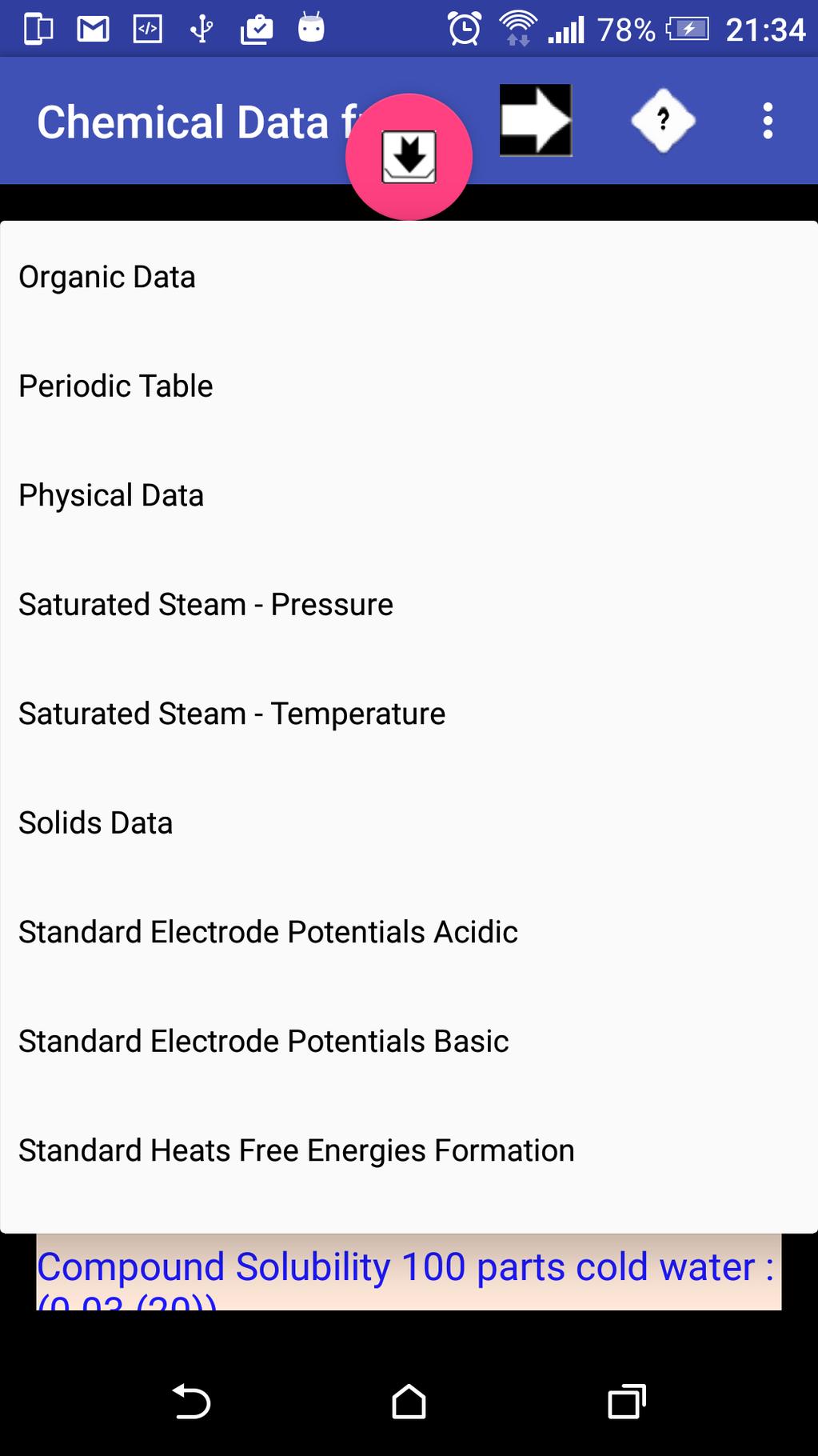 Chemical Data Screenshot 2