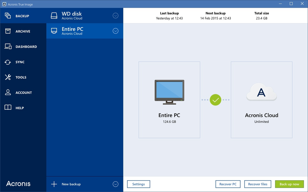 Acronis True Image Cloud for Mac Screenshot 1